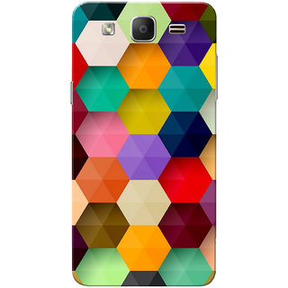Galaxy On5 Case, Galaxy On5 Pro Case, Multi Hexagon design Slim Fit Hard Case Cover/Back Cover for Samsung Galaxy On 5/On5 Pro