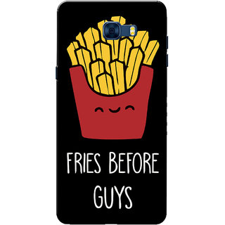 Galaxy C7 Pro Case, Fries Before Guys Black Slim Fit Hard Case Cover/Back Cover for Samsung Galaxy C7 Pro