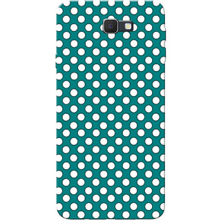 Galaxy J7 Prime Case, Small White Dotted Slim Fit Hard Case Cover/Back Cover for Samsung Galaxy J7 Prime (G610F/DD)