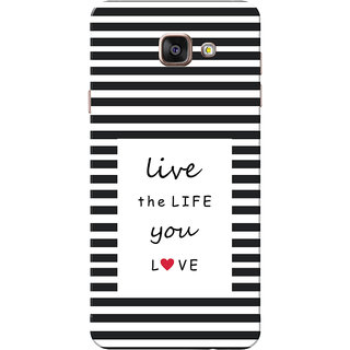 Galaxy A7 2016 Case, Galaxy A710 Case, Live Life Black Slim Fit Hard Case Cover/Back Cover for Samsung Galaxy A7 2016/A710