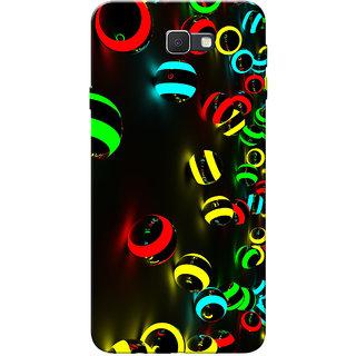 Galaxy J7 Prime Case, Neon Balls Slim Fit Hard Case Cover/Back Cover for Samsung Galaxy J7 Prime (G610F/DD)