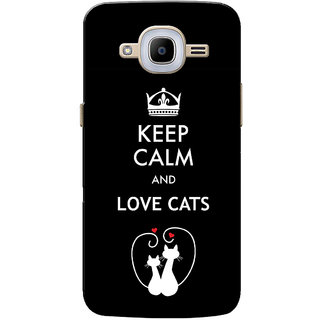 Galaxy J2 2016 Case, Galaxy J2 Pro 2016 Case, Love Cats Black Slim Fit Hard Case Cover/Back Cover for Samsung Galaxy J2 Pro 2016/Galaxy J2 2016