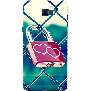 Galaxy C7 Pro Case, Love Lock Slim Fit Hard Case Cover/Back Cover for Samsung Galaxy C7 Pro