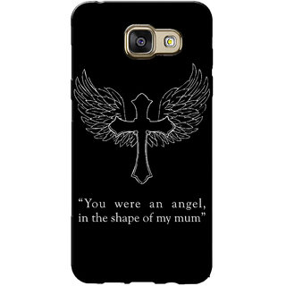 Galaxy J5 Prime Case, Galaxy On5 2016 Case, Angel Mum Black Slim Fit Hard Case Cover/Back Cover for Samsung Galaxy J5 Prime/On5 2016