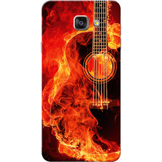 Galaxy A7 2016 Case, Galaxy A710 Case, Burning Guitar Slim Fit Hard Case Cover/Back Cover for Samsung Galaxy A7 2016/A710