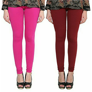 Alishah Cotton Lycra Premium Leggings For Women And Girl Magenta Maroon