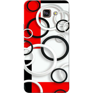 Galaxy A7 2016 Case, Galaxy A710 Case, Circles White Red Black Slim Fit Hard Case Cover/Back Cover for Samsung Galaxy A7 2016/A710