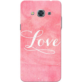 check out 6b44b 65f54 Galaxy J3 Pro Case, White Love with Pink Slim Fit Hard Case Cover/Back  Cover for Samsung Galaxy J3 Pro
