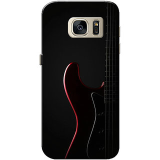 Galaxy S7 Case, Guitar Black Slim Fit Hard Case Cover/Back Cover for Samsung Galaxy S7