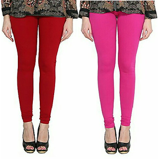 Alishah Cotton Lycra Premium Leggings For Women And Girl Blood Red Magenta