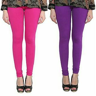 Alishah Cotton Lycra Premium Leggings For Women And Girl Magenta Purple