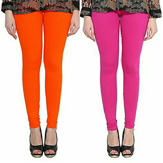 Alishah Cotton Lycra Premium Leggings For Women And Girl Dark Orange Magenta