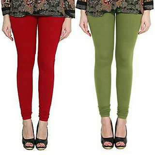 Alishah Cotton Lycra Premium Leggings For Women And Girl Blood Red Mehandi
