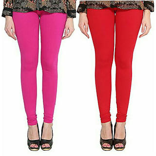 Alishah Cotton Lycra Premium Leggings For Women And Girl Magenta Red