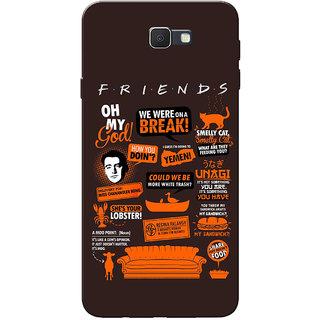 Galaxy J7 Prime Case, Friends Orange Brown Slim Fit Hard Case Cover/Back Cover for Samsung Galaxy J7 Prime (G610F/DD)
