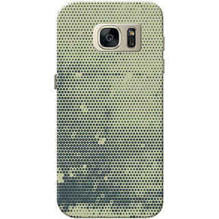 Galaxy S7 Case, Black Dots Grey Slim Fit Hard Case Cover/Back Cover for Samsung Galaxy S7