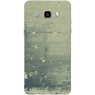 Galaxy J7 2016 Case, Galaxy On8 Case, Black Dots Grey Slim Fit Hard Case Cover/Back Cover for Samsung Galaxy On8/ J7 2016
