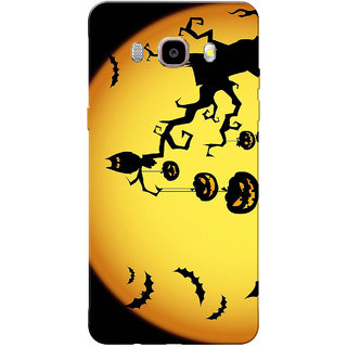 Galaxy J7 2016 Case, Galaxy On8 Case, Halloween Orange Black Slim Fit Hard Case Cover/Back Cover for Samsung Galaxy On8/ J7 2016