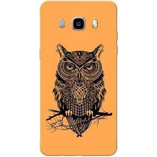 Galaxy J7 2016 Case, Galaxy On8 Case, Owl Orange Slim Fit Hard Case Cover/Back Cover for Samsung Galaxy On8/ J7 2016