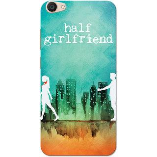 Vivo V5 Plus Case, Half Girlfriend Green Orange Slim Fit Hard Case Cover/Back Cover for Vivo V5 Plus