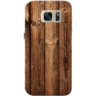 Galaxy S7 Case, Dark Brown Wood Slim Fit Hard Case Cover/Back Cover for Samsung Galaxy S7