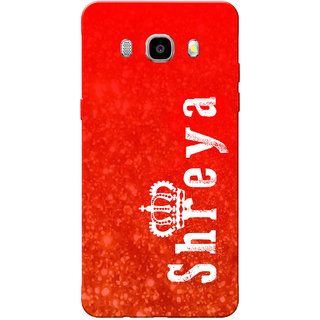 Galaxy J7 2016 Case, Galaxy On8 Case, Shreya Red Slim Fit Hard Case Cover/Back Cover for Samsung Galaxy On8/ J7 2016
