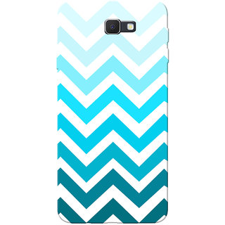 Galaxy J7 Prime Case, Blue Zigzag White Slim Fit Hard Case Cover/Back Cover for Samsung Galaxy J7 Prime (G610F/DD)