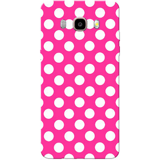 Galaxy J7 2016 Case, Galaxy On8 Case, Medium White Dotted Slim Fit Hard Case Cover/Back Cover for Samsung Galaxy On8/ J7 2016