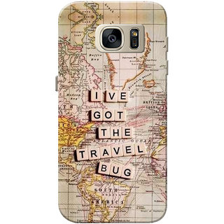 Galaxy S7 Case, Travel Bug Slim Fit Hard Case Cover/Back Cover for Samsung Galaxy S7