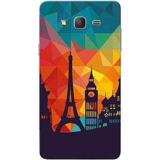Galaxy On7 Case, Galaxy On7 Pro Case, City Shadow Slim Fit Hard Case Cover/Back Cover for Samsung Galaxy On 7/On7 Pro