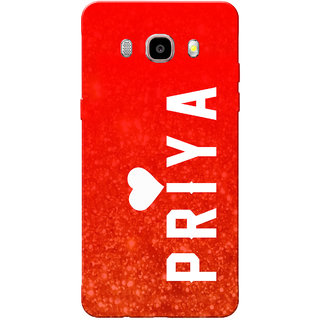 Galaxy J7 2016 Case, Galaxy On8 Case, Priya Red Slim Fit Hard Case Cover/Back Cover for Samsung Galaxy On8/ J7 2016