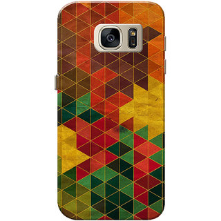 Galaxy S7 Case, Small Multi Triangles Slim Fit Hard Case Cover/Back Cover for Samsung Galaxy S7