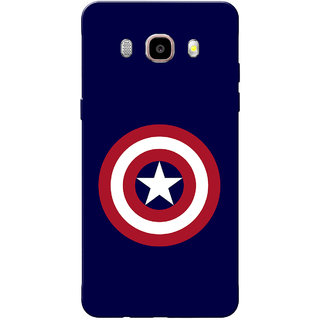 Galaxy J7 2016 Case, Galaxy On8 Case, CA Navy Blue Slim Fit Hard Case Cover/Back Cover for Samsung Galaxy On8/ J7 2016