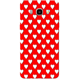 Galaxy J7 2016 Case, Galaxy On8 Case, Small White Heart Slim Fit Hard Case Cover/Back Cover for Samsung Galaxy On8/ J7 2016