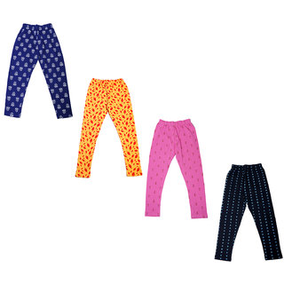 IndiWeaves Girls Super Soft and Stylish Cotton Printed Churidar Legging(Pack of 4)_Multicolor_1-3 Years_71418363738-IW-P4-22