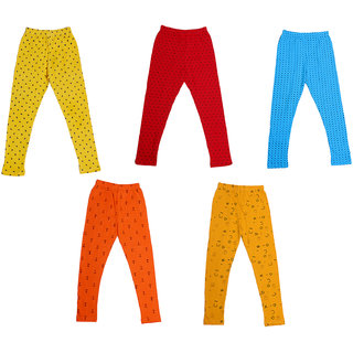 IndiWeaves Girls Super Soft and Stylish Cotton Printed Leggings(Pack of 5)_Size-1-3 Years_7144041424345-IW-P5-22
