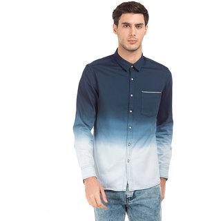 Flying Machine Indigo Men Slim Fit Shirt