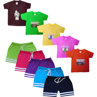 Jisha Fashion boys Tshirt and bermuda Set (TCCBER) Pack of 5
