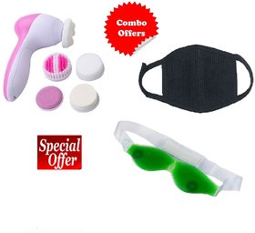 COMBO OFFER (5 in 1 Massager + Eye Cool + Pollution Mask)