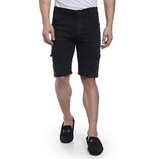 Hangup cotton cargo shorts for mens