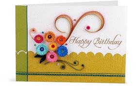 Handcrafted Emotions Handmade Birthday Greeting Card