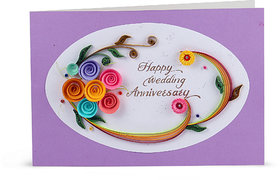 Handcrafted Emotions Handmade Wedding Anniversary Greeting Card