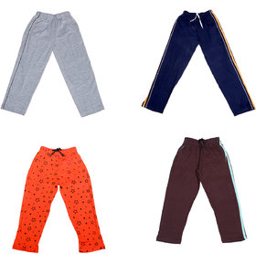 IndiWeaves Boys Premium Cotton Full Length Lower/Track Pants/Pyjamas with 2 Open Pockets(Pack of 4)_Multicolor_2-3 Years_36001091130-IW-P4-22