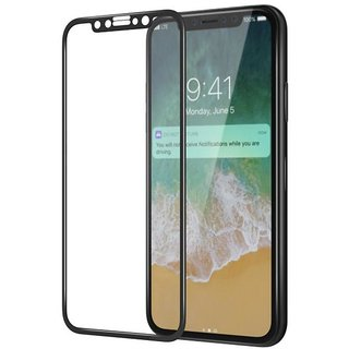 ARCHIST 5D PREMIUM QUALITY Contoured Edge Tempered Glass For Apple iPhone XG (BLACK)