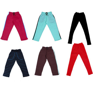 IndiWeaves Girls Combo Pack(Pack of 3 Solid and 1 Printed Lower/Tarck Pants With 2 Cotton Leggings)_Multicolor_2-3 Years_360273033347140405-IW-G-P6-22