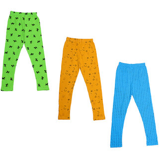 IndiWeaves Girls Super Soft and Stylish Cotton Printed Leggings(Pack of 3)_Size-1-3 Years_714424344-IW-P3-22