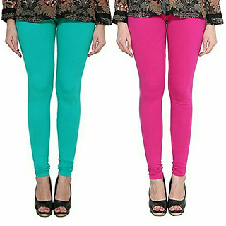 Alishah Cotton Lycra Premium Leggings For Women And Girl Sea Green Magenta