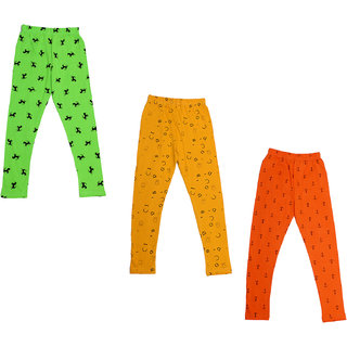 IndiWeaves Girls Super Soft and Stylish Cotton Printed Leggings(Pack of 3)_Size-1-3 Years_714424445-IW-P3-22