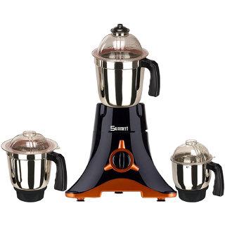 Sunmeet Black Color 800Watts Mixer Juicer Grinder with 3 Jar ( 1 Large Jar  1 Medium Jar and 1 Chuntey Jar)