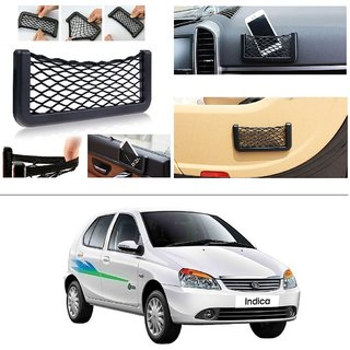 AutoStark Storage Bag Box Car Seat Side Back Net Phone Holder Pocket Organizer For Tata Indica